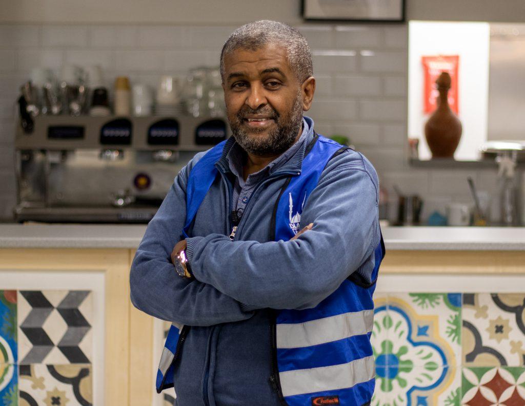 Jalal Darir, flyktingsamordnare på Islamic Relief som driver samarbetet Goda Grannar med Svenska kyrkan och Stockholms moské.