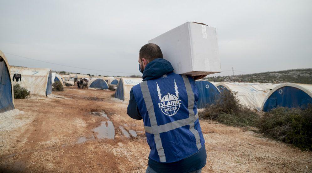 Islamic Relief- medarbarbetaren Hamza i nordvästra Syrien