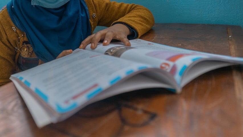 Najah i Syrien gick inte i skolan på tre år