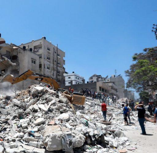 Förstörelse efter en bombattack i Gaza