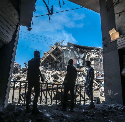Förödelse i Gaza efter bombningarna i maj 2021
