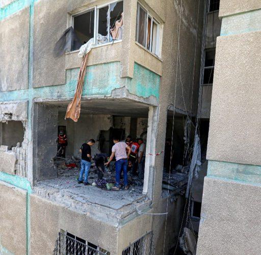 Skadade hus i Gaza maj 2021